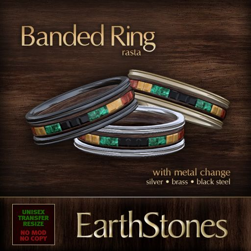 rasta wedding rings | Unisex Banded Rings « EarthStones