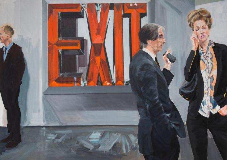 Eric Fischl, Art Fair: Exit (Courtesy of Jablonka Maruani Mercier Gallery)