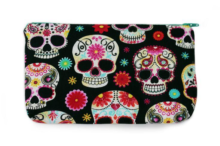 Sugar Skulls & Flowers Purse
