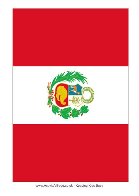 Peru flag printable