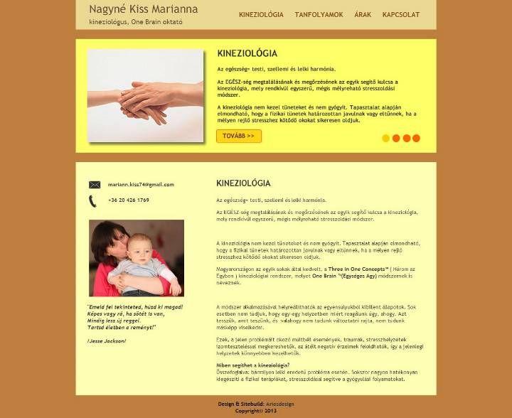 Kinesiologian expert webdesign main page