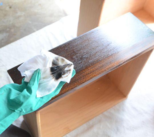 Great tutorial on refinishing wood and wood veneer furniture.