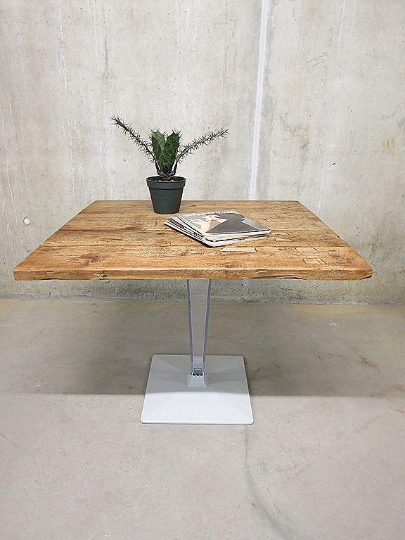 Vintage bistro tafel industrieel loft, Industrial dinner table vintage design