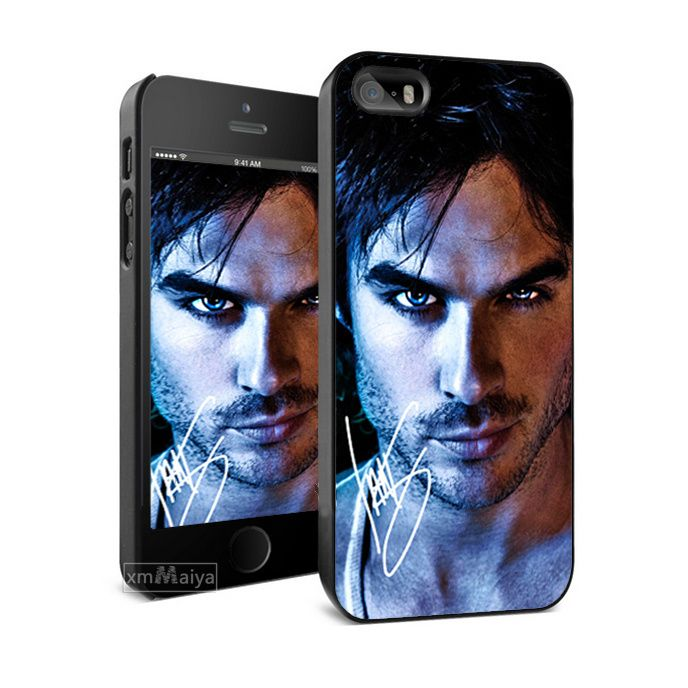 Cool The Vampire Diaries Ian Somerhalder Hard Skin Mobile Phone Cases For iPhone 6 6 plus 5s 5 4 4s Case Cover Brand With Gift