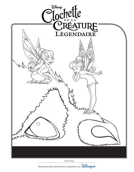 Du coloriage Clochette à imprimer gratuitement pour les enfants