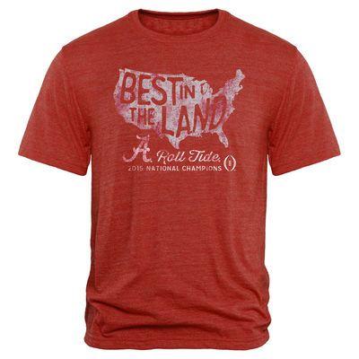 Alabama Crimson Tide College Football Playoff 2015 National Champions Pride Tri-Blend T-Shirt - Crimson