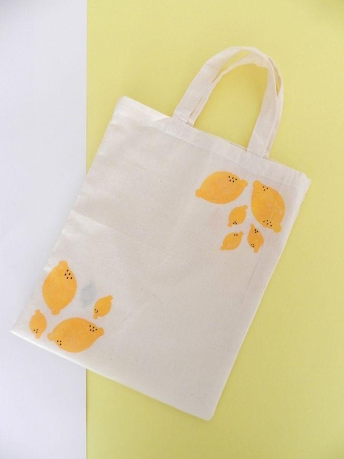 Yellow Pillows Deco: DIY Stamped tote bag