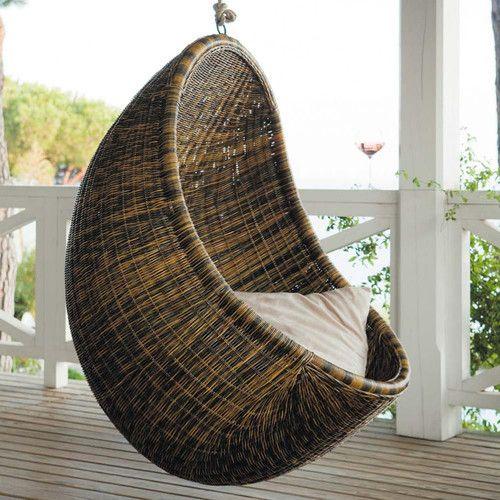 Fauteuil suspendu rotin oeuf terrasse d co pinterest fauteuil de jardin suspendu rotin et - Terrasse jardin suspendu montreuil ...