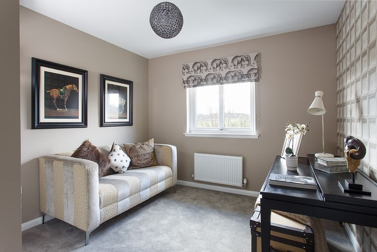 The luxurious study of the showhome at Walker Group's Hopefield Park in Bonnyrigg