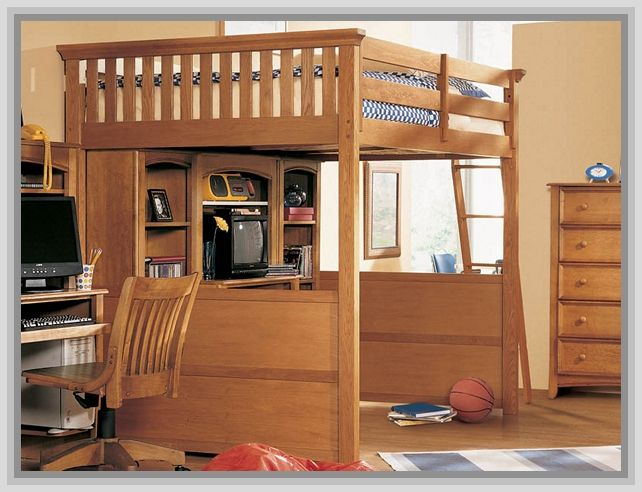 153 best loft bed with desk underneath images on pinterest. Black Bedroom Furniture Sets. Home Design Ideas