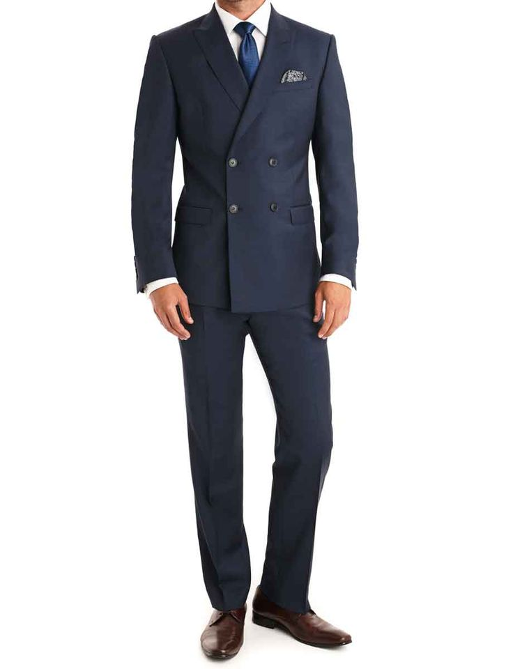 Double Breasted Navy Blue Tuxedo