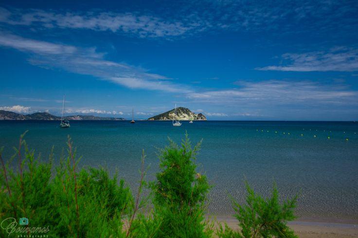 Marathonisi island view from Keri resort Zante.