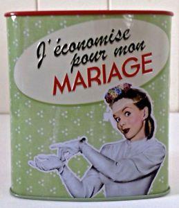 """Collection. Petite banque en fer """"J'économise pour mon mariage"""""""
