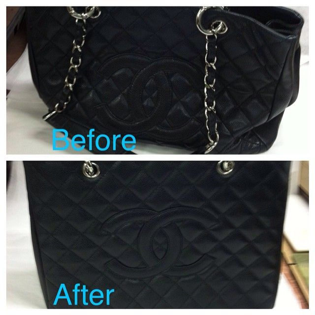 a3e4cadd036d Before and after reshaping a  Chanel  GST.  leathersurgeons  authentic   handbagrepair  restoration  beforeandafter  transformation