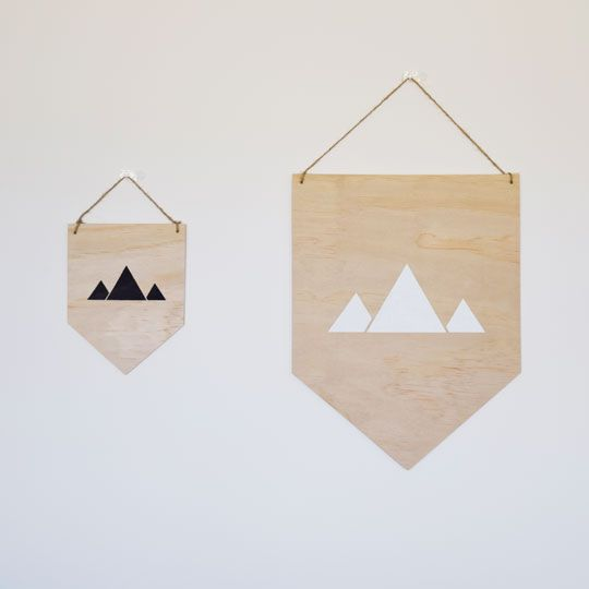 Made By Mee + Co   Mountains Silhouette Ply Banner