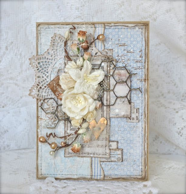 Cathrines hjerte Gorgeous papers from Maja Design.