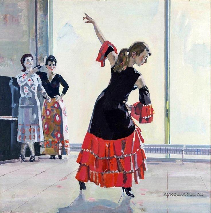Чернощеков Григорий Зиновьевич (1926-1989) «Танцующая девушка» 1985