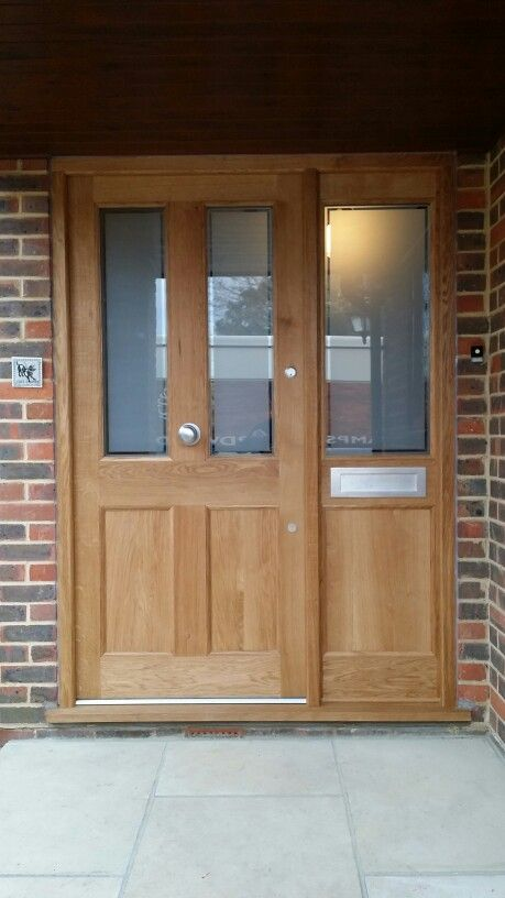 European Oak door with Carlisle Brass hardware and Osmo  UV protection oil.