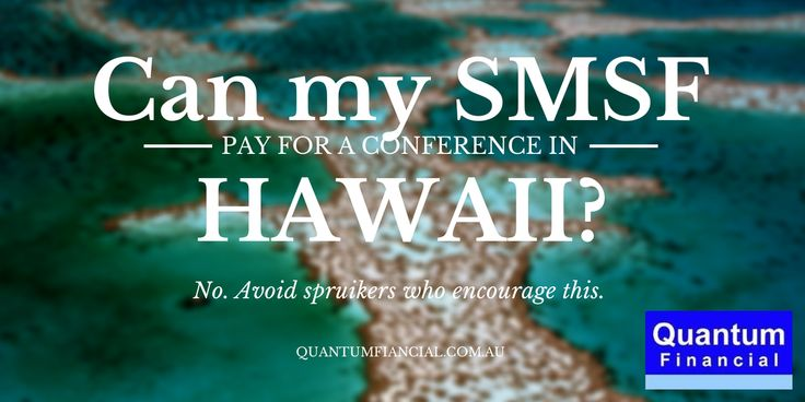 We address the hard #SMSF questions #hawaii