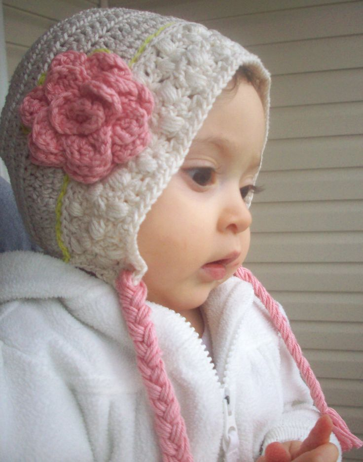 Valentines Baby hat, baby bonnet, children accessories, easter baby hat, spring bonnet, infant hat, crocheted hat. via Etsy. super cute