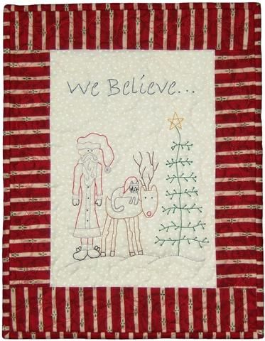 """A FREE Santa Stitchery 12½"""" x 16"""".  Here is an early Christmas present for my website followers. You can download this cute Santa stitchery for free up until Christmas."""