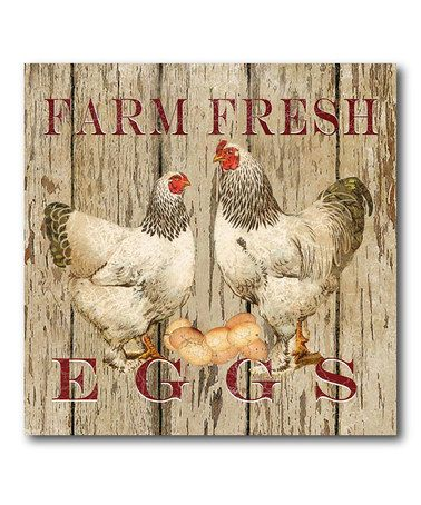 Take a look at this 'Farm Fresh' Canvas Wall Art by Farmhouse Finds: Home Décor on @zulily today!