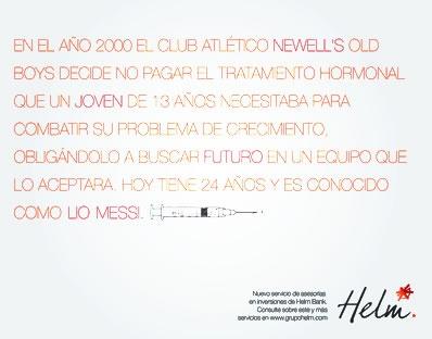 Campaña HELM BANK · Messi · JUAN SEBASTIAN ESGUERRA · Portafolio 2011 · Publicidad · Colegiatura Colombiana · Medellín-Colombia