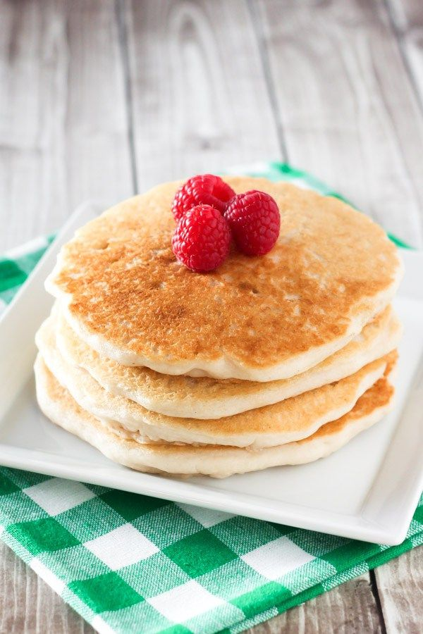 Pancakes for breakfast. Pancakes for dinner. Fluffygluten free pancakes. Smothered in maple syrup and topped with fresh fruit. It's always a good time for pancakes in our house! I've m…