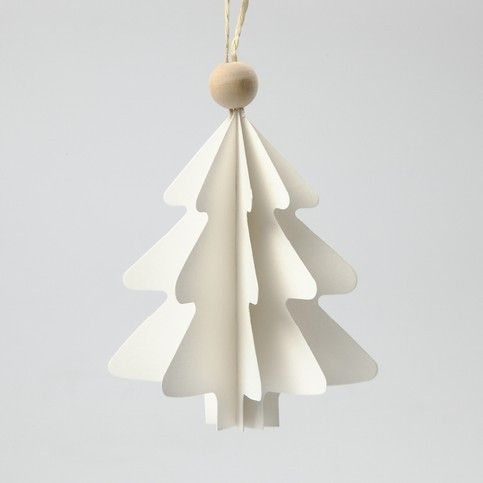 Link to DIY instruction for modern paper Christmas tree ornament.
