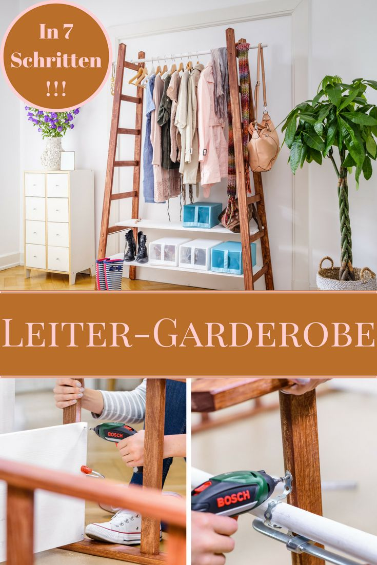 Kleiderständer Upcycling Upcycling: Leiter-garderobe In 2019 | 00 Upcycled House