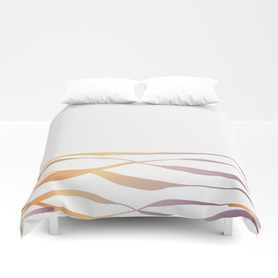 A Bottomless Sea No. 3 Sunset - minimalist duvet cover by M Gloria Hunter