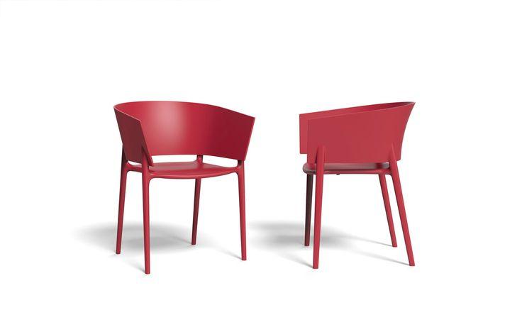"""Africa Stuhl -  """"Möbel / Gartenmöbel / Stuhl"""" -  Was ist Ihnen in Bezug auf Gartenstühle wichtig? Dass sie stapelbar sind und somit wenig Platz weg nehmen? Dass sie aus einem Material gefertigt sind, dass Ihnen lange Freude bereitet, robust und wetterfest ist, dabei noch wiederverwertbar und somit umweltschonend? Und dass sie bei alledem auch noch richtig toll, schick und modern aussehen..."""