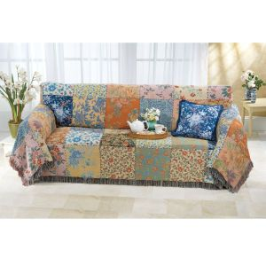 Vintage Patchwork Sofa Cover Furniture Home Decor And Furnishings Accessories