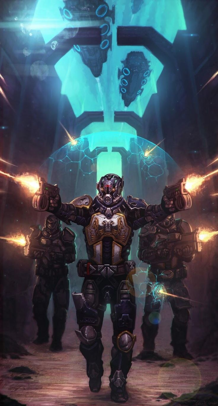 A trio of Titans from Bungees new game Destiny. This is awesome