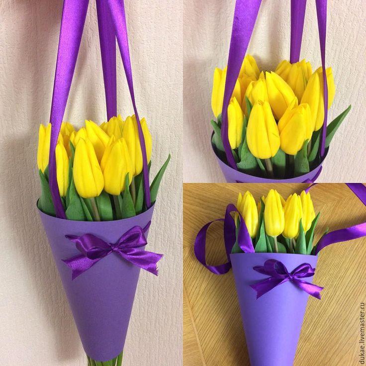 как красиво упаковать тюльпаны своими руками фото канал