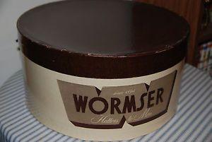 Wormser Vintage Men's Fedora Hat Box -- No Hat Just Box