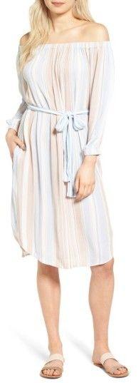 AG Jeans Michelle Off the Shoulder Cotton Dress