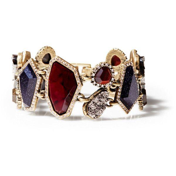 Rebel Statement Bracelet | Chloe + Isabel (£55) ❤ liked on Polyvore featuring jewelry, bracelets, statement bangles, chloe isabel jewelry and statement bracelet