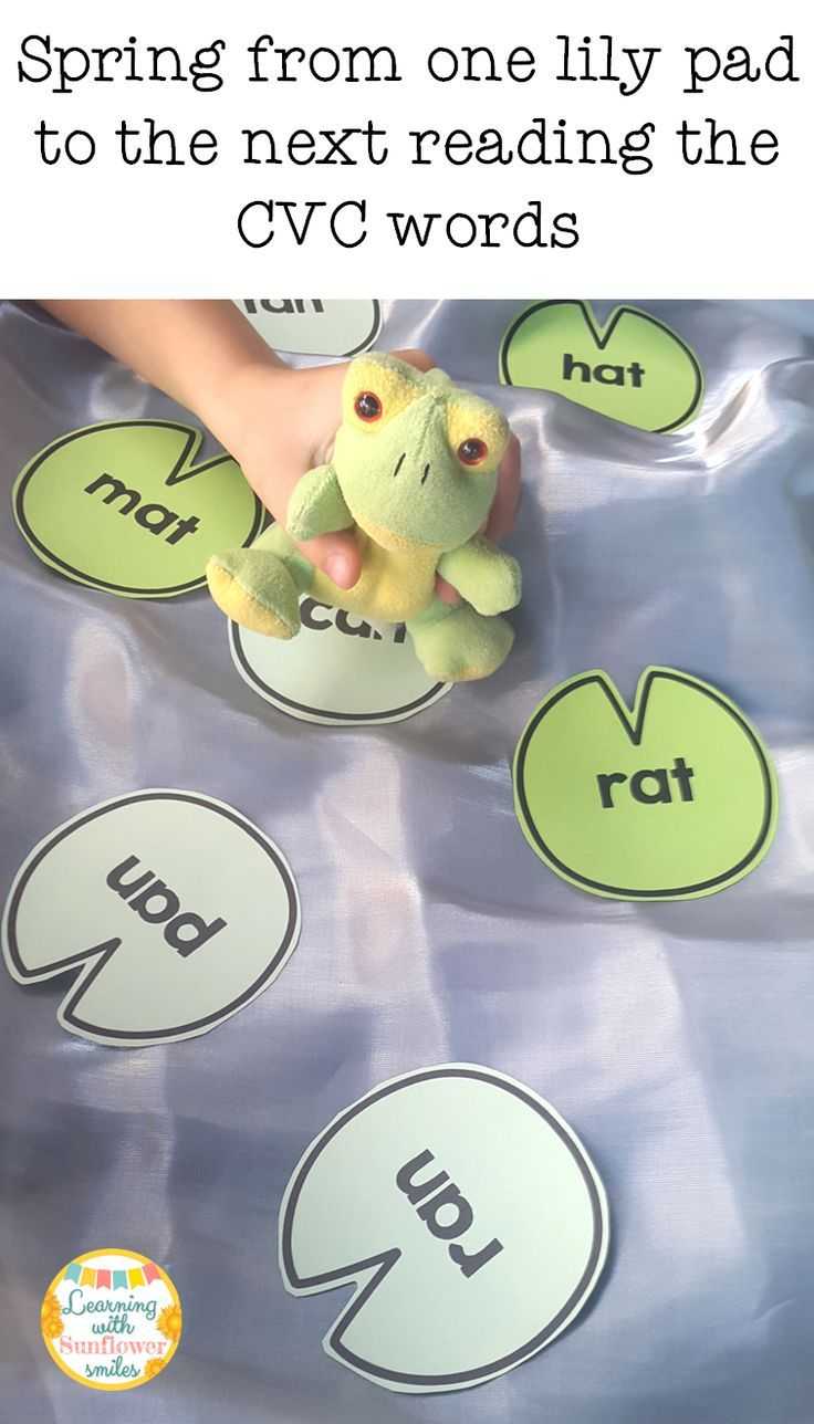 Interactive way to practice CVC fluency. Jump the frog from one lily pad to the next reading the words.