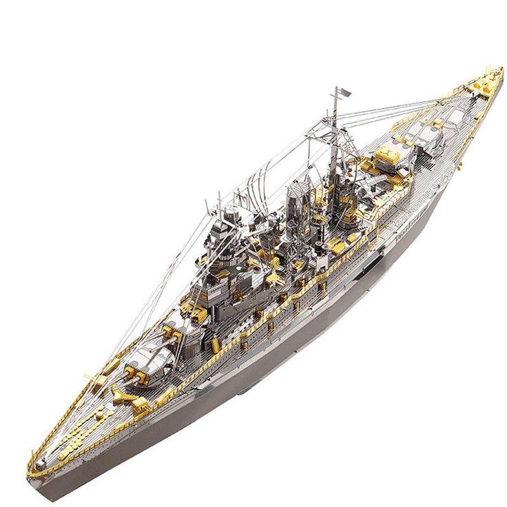 Piececool DIY Nagato Class Battleship 3D Metal Puzzle Assembly Model Puzzle Creative Toys Sale - Banggood.com