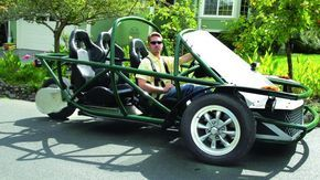 Makezine article about diy electric vehicle - how much I want one, and to build my own, is silly intense