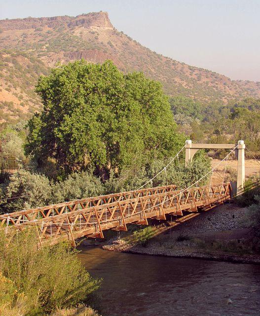 the old otowi bridge near Los Alamos New Mexico
