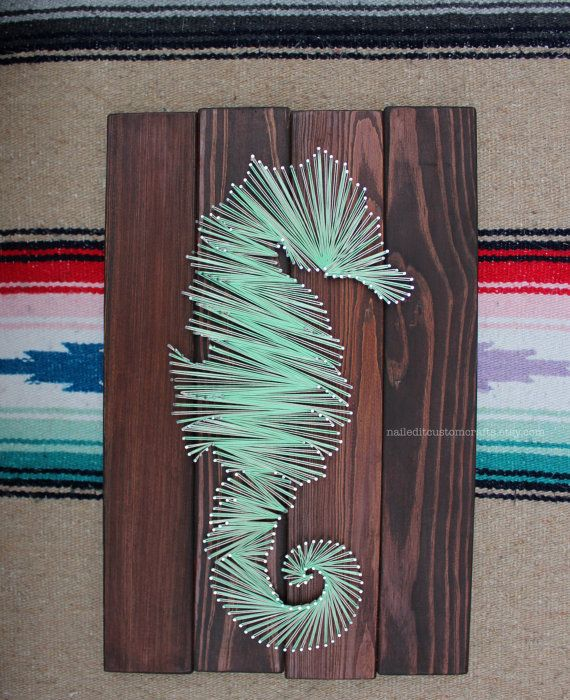 Seahorse wall decor personalized mom gifts by NailedItCustomCrafts