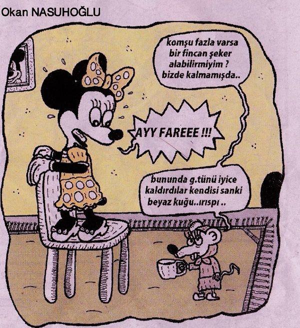 Fareler ve Kadınlar Karikatürü Okan Nasuhoğlu
