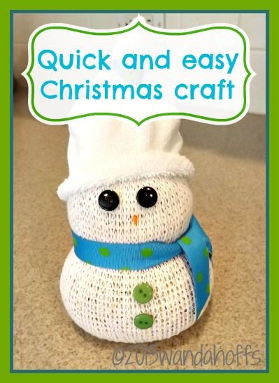 Quick and easy snowman christmas craft for Quick craft