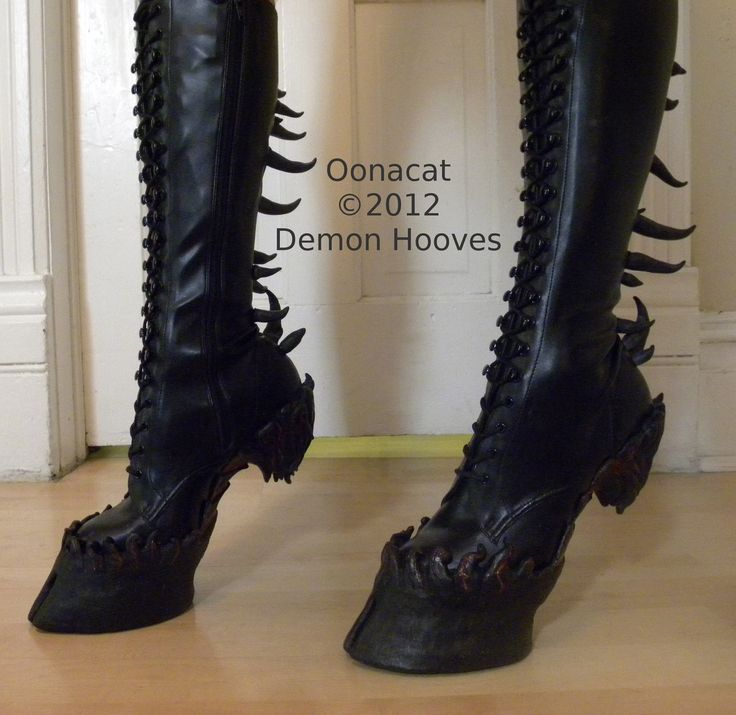 holy lovefest // Heelless Hooves for Costume - Custom  epic hooves made to order. $900.00, via Etsy.