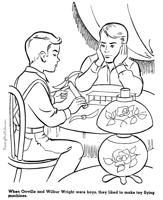Brothers Coloring Pages The Wright 2020 Check More At Https