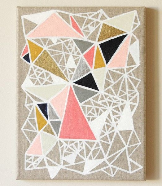 25 best ideas about geometric painting on pinterest for Artists who use shapes in their paintings