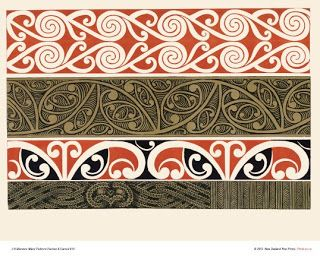 "New Zealand Art Print News: Maori Art Design Prints from Menzies ""Maori Patterns"" released"