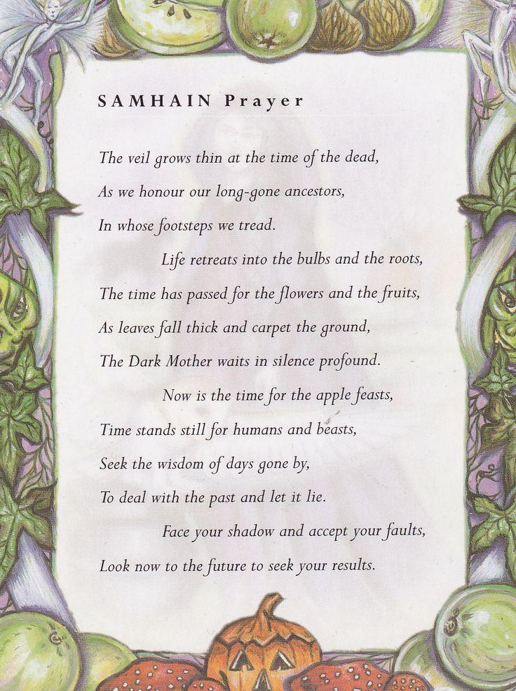 Samain:  #Samhain Prayer.